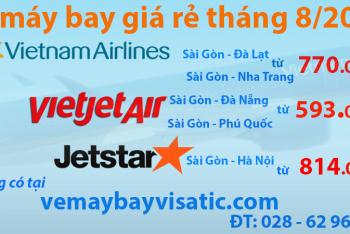 Vé máy bay giá rẻ tháng 8, 9, 10 chỉ từ 483000 đ