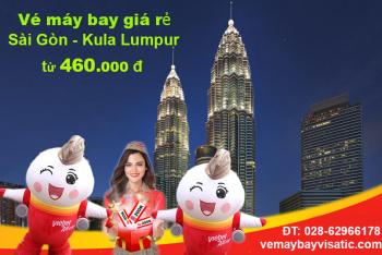 Vé máy bay Sài Gòn Kuala Lumpur Vietjet giá rẻ từ 460.000 đ
