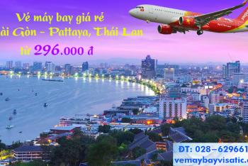 Vé máy bay Vietjet Sài Gòn Pattaya giá rẻ khuyến mãi từ 296k