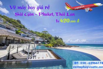 Giá vé máy bay Vietjet Sài Gòn Phuket, Thái Lan từ 420k