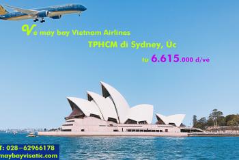 Vé máy bay Vietnam Airlines TPHCM đi Sydney (Sài Gòn-Sydney) từ 6.615k