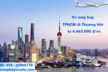 Vé máy bay China Eastern TPHCM đi Thượng Hải, Shanghai từ 4.465k