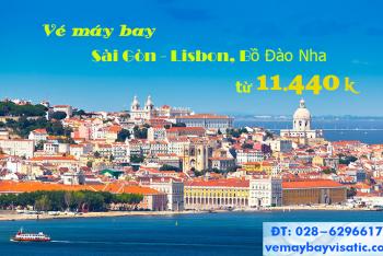 Vé máy bay Sài Gòn TPHCM đi Lisbon, Bồ Đào Nha từ 11.440k