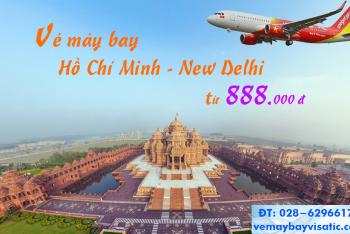 Vé máy bay TP Hồ Chí Minh đi New Delhi (Sài Gòn–New Delhi) Vietjet Air