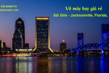 Vé máy bay TPHCM Sài Gòn đi Jacksonville, Florida, Mỹ giá rẻ từ 12415k